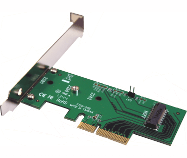 M2 PCIe SSD adapter (model: ADM2PX4)