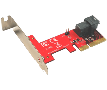 SFF-8643 PCIe 4X adapter (model: ADSF8643PX4)