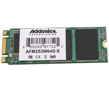 Industrial M2 SLC SSD (model: AFM2S3W64G-S)